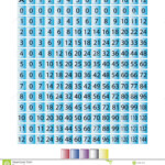 Multiplication Chart 0 Through 12 Stock Vector Inside Printable Multiplication Chart 0 12