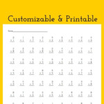Multiplication Drill Worksheet   Customizable And Printable Within Free Printable Multiplication Drill Sheets