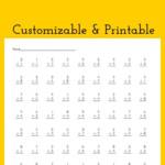 Multiplication Drill Worksheet   Customizable And Printable Within Free Printable Multiplication Drill Sheets
