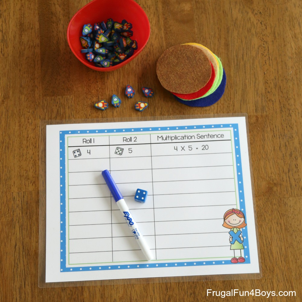 Multiplication Games With Dice - Frugal Fun For Boys And Girls in Printable Multiplication Mats