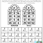 Multiplication: Solve To Win! See Which Turkey Wins The Race For Printable Multiplication Turkey