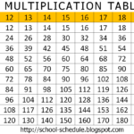 Multiplication Tables From 13 To 20 Image Collections Intended For Printable Multiplication Table 20