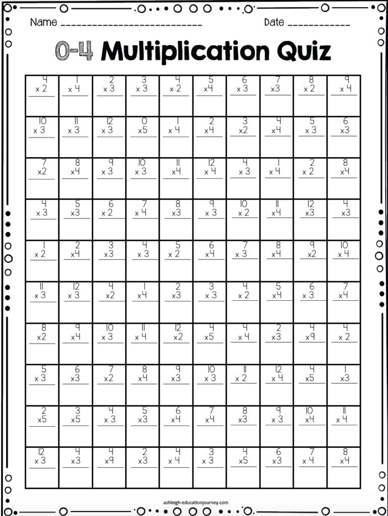 Multiplication Timed Test | Math | Teaching Multiplication Throughout Printable 100 Multiplication Facts Timed Test