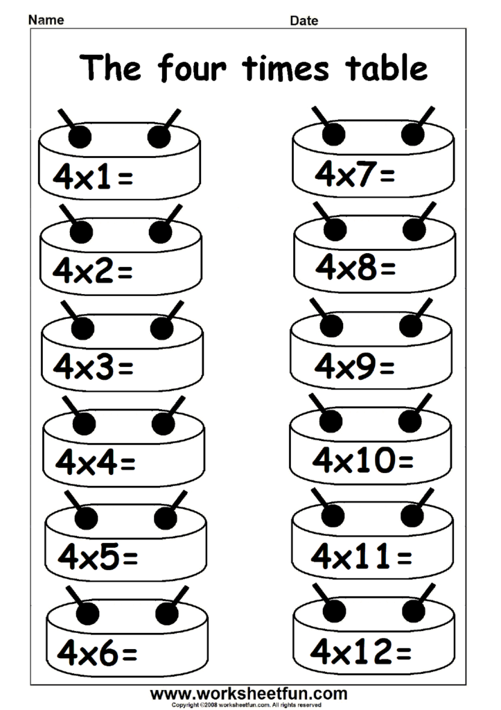 Multiplication Times Table Practice   2 12 Times Table With Printable Multiplication Worksheets 2 12