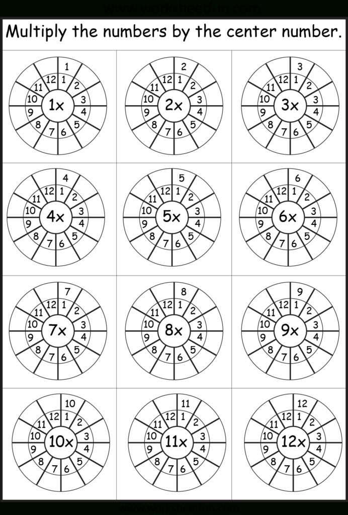 Multiplication Wheels   Math Worksheets, Multiplication With Regard To Printable Multiplication Wheels