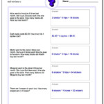 Multiplication Word Problems For Multiplication Worksheets 9Th Grade