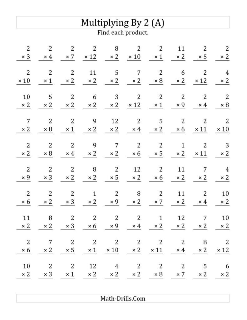 Multiplication Worksheet Drilles 1 Through 10   Printable With Multiplication Worksheets X1