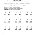 Multiplication Worksheets And Printouts For Worksheets Multiplication Grade 2