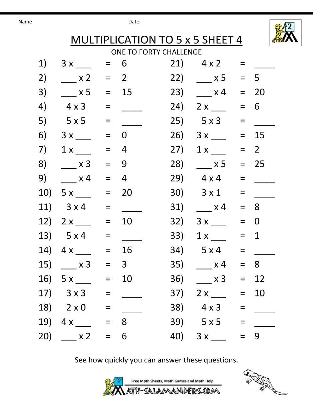 Multiplication Worksheets Grade 3 Coloring | Math in Grade 3 Multiplication Printable
