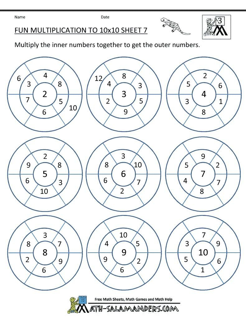 Grade 3 Multiplication Printable | PrintableMultiplication.com