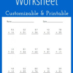 Multiplying Decimals Worksheet   Customizable And Printable With Regard To Worksheets Multiplication Of Decimals