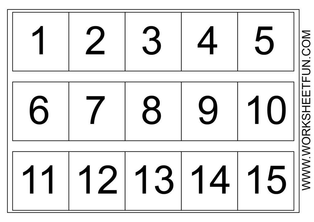Number Chart 1 15 | Number Worksheets Kindergarten, Number Within Printable Multiplication Flash Cards 1 15