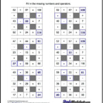 Number Grid Puzzles! Multiplication And Division With Pertaining To Multiplication Jigsaw Printable