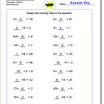 Pre Algebra Within Worksheets In Multiplication And Division