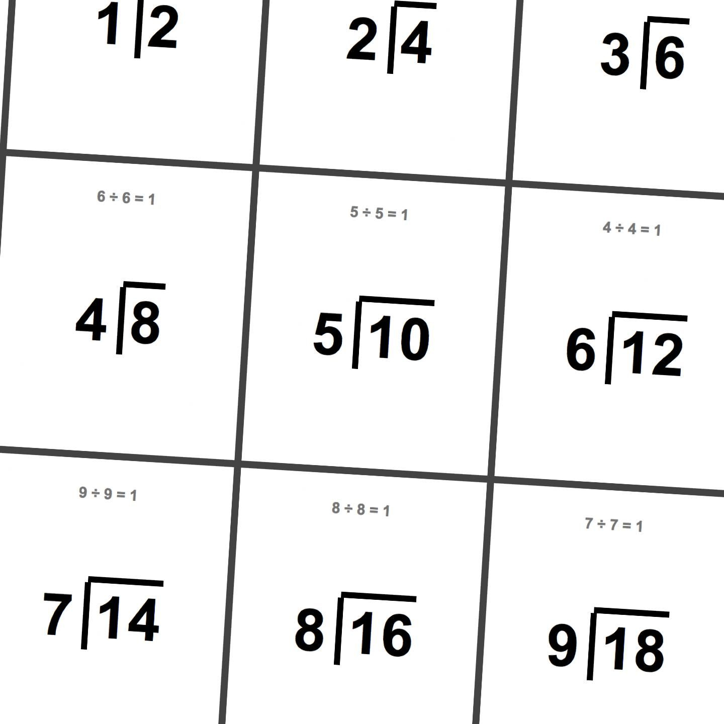 Printable Division Flashcards! | Math Worksheets, Free intended for Large Printable Multiplication Flash Cards
