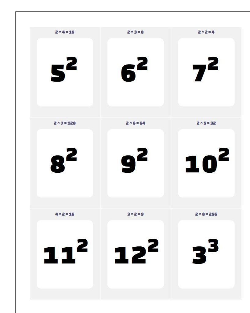 Printable Flash Cards Intended For Large Printable Multiplication Flash Cards
