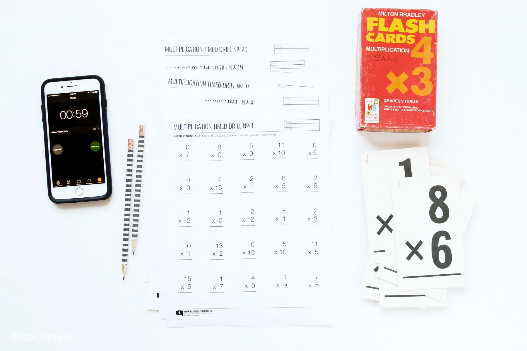 Printable Multiplication Worksheets - 20 Free Worksheets in Multiplication Race Printable