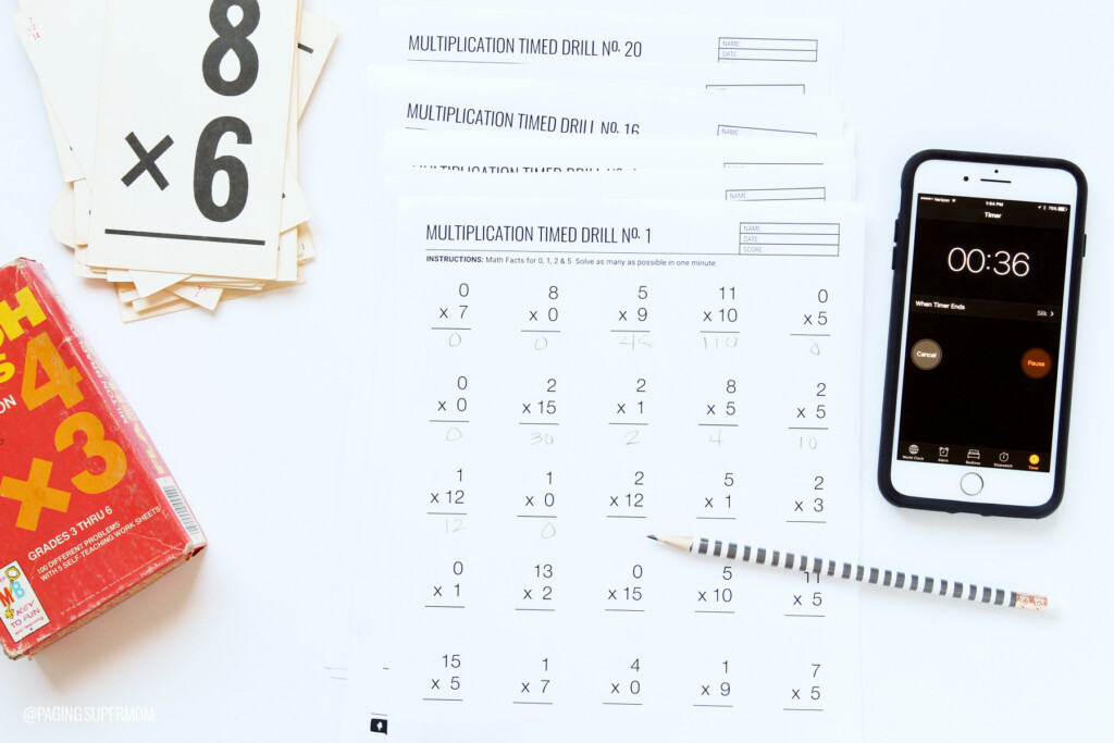 Printable Multiplication Worksheets   20 Free Worksheets With Multiplication Race Printable