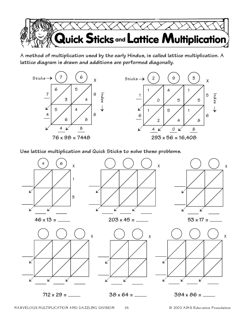 Quick Sticks And Lattice Multiplication | Math Classroom with regard to Free Printable Lattice Multiplication Grids