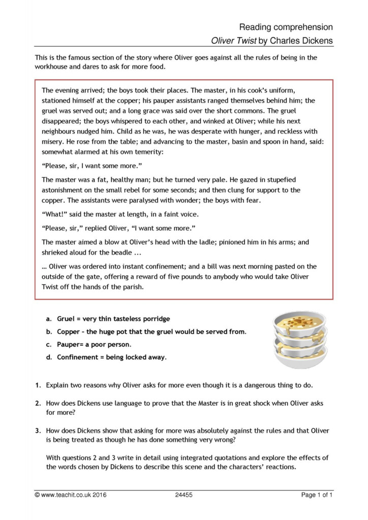 Reading Comprehension S Ks2 Year With Answers Tes Literacy Regarding Multiplication Worksheets Year 3 Tes