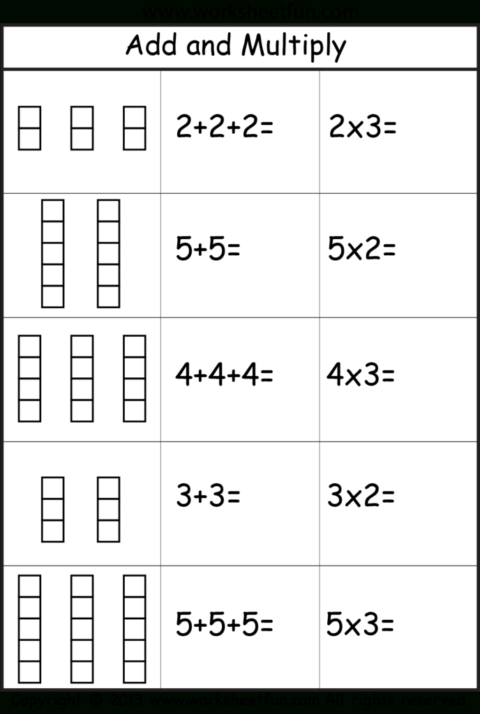 Repeated Addition | Repeated Addition, Math Worksheets Intended For Multiplication Worksheets Repeated Addition