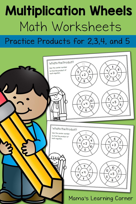 Simple Multiplication Wheels: Math Worksheets - Mamas with regard to Printable Multiplication Wheels