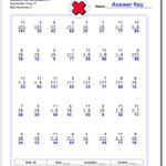 Spaceship Math Multiplication Worksheet X11 Any Number Times Intended For Worksheets In Multiplication