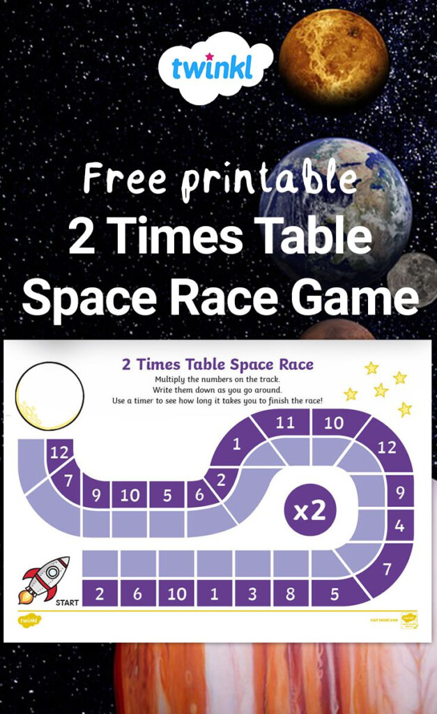 This Multiplication Space Race Is Perfect For Getting Your Inside Multiplication Race Printable