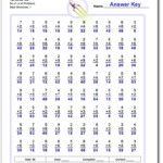 Two Minute Test No X1 Or X0 Problems Worksheet Inside Multiplication Worksheets X1
