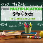 Updated* Multiplication Timed Tests   The Curriculum Corner 123 With Free Printable Multiplication Facts Quiz