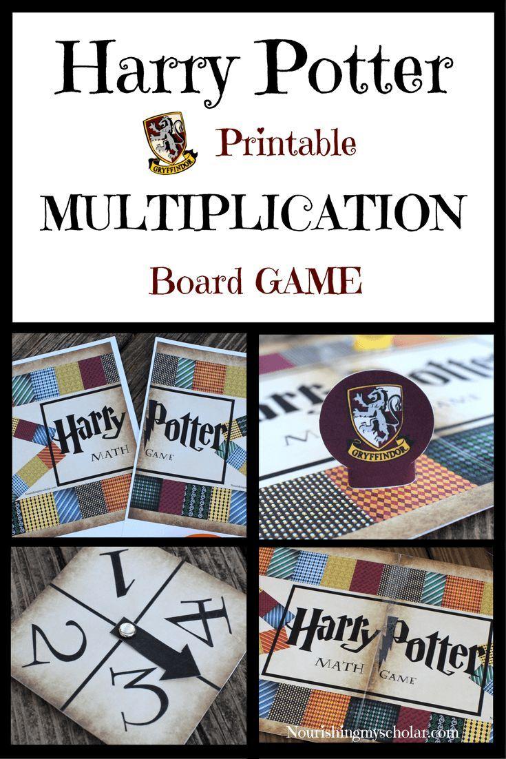 Wizard Math Printable Multiplication Board Game | Harry with Printable Multiplication Board Games