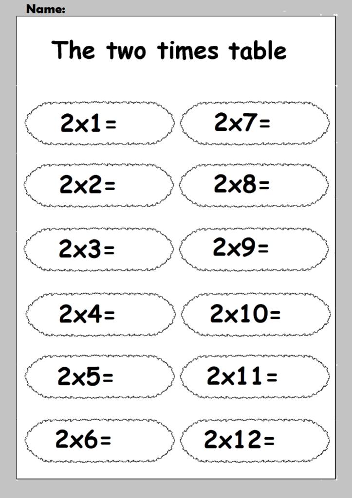 2 Times Table Worksheets | Printable Shelter Throughout Printable Multiplication Table Worksheets