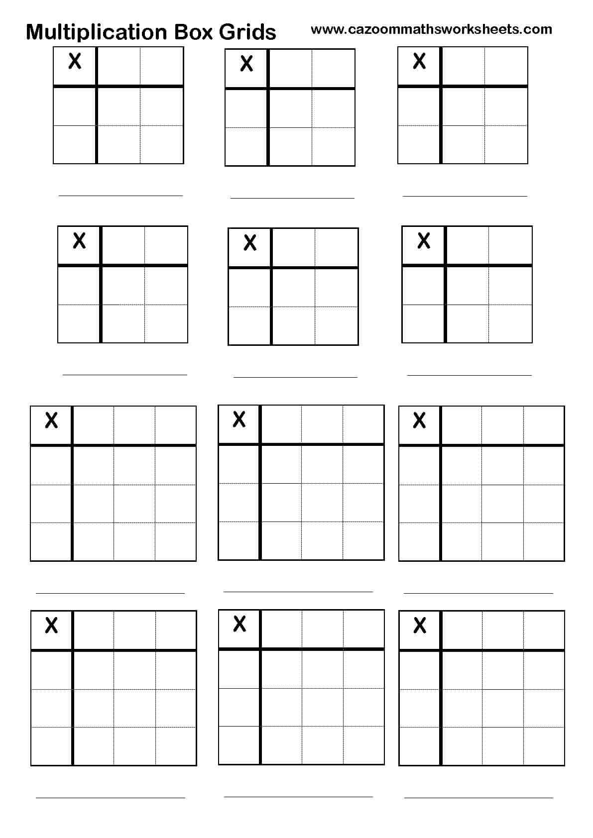 28+ [ Long Division Worksheets With Grid Lines ] | 2 Digit with Multiplication Worksheets On Grid Paper