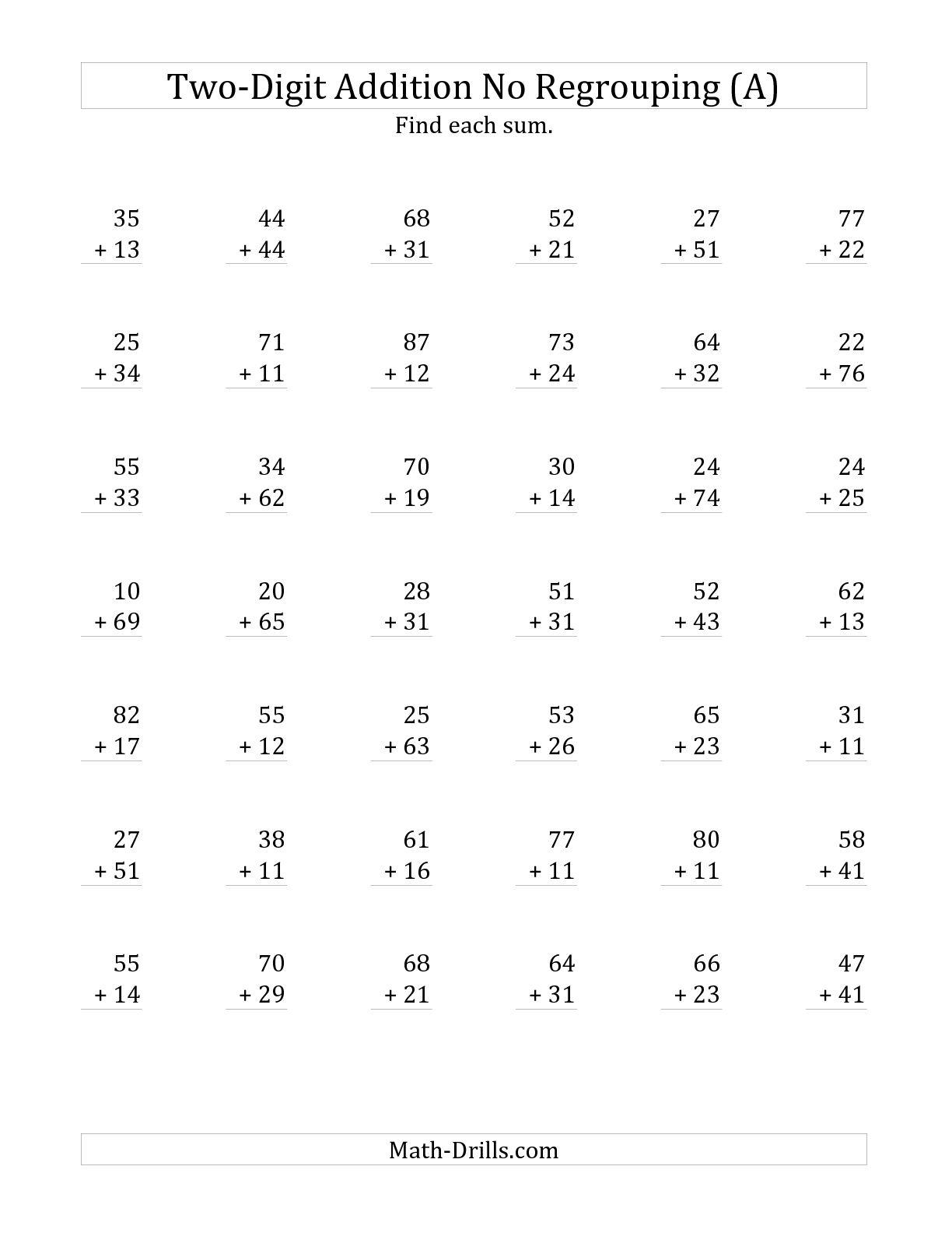 2Nd Grade Minute Math Worksheets | Printable Worksheets And pertaining to Multiplication Worksheets No Regrouping