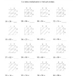 3 Worksheet 37 Multiplication Fill In The Blank The 2 Digit Intended For Printable Lattice Multiplication Worksheets
