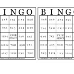 30 Images Of Printable Multiplication Bingo Template In Printable Multiplication Bingo