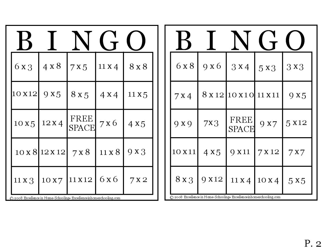 30 Images Of Printable Multiplication Bingo Template pertaining to Printable Multiplication Bingo Game