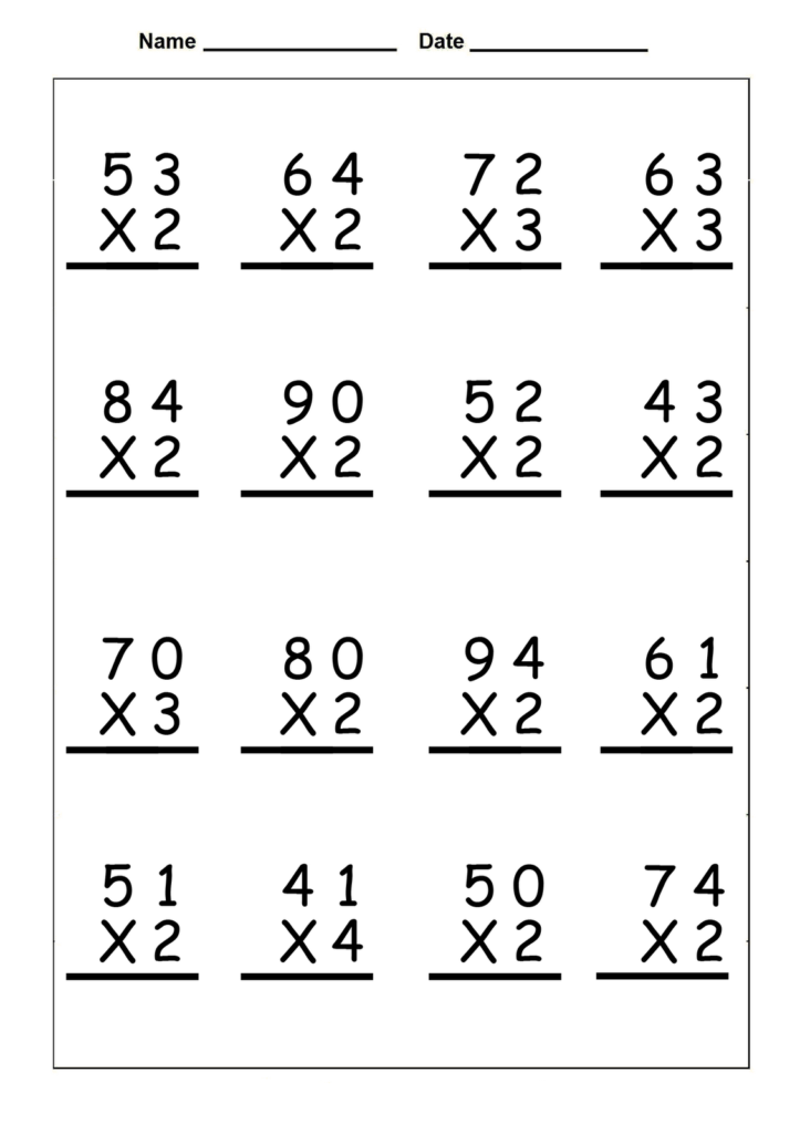 4Th Grade Multiplication Worksheets   Best Coloring Pages Pertaining To Printable Multiplication Worksheets 4Th Grade