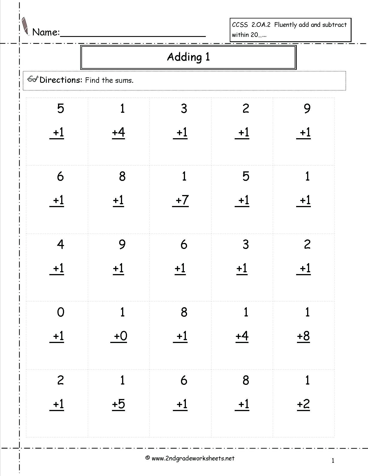 5 Free Math Worksheets First Grade 1 Subtraction Subtracting for Multiplication Worksheets Level 1