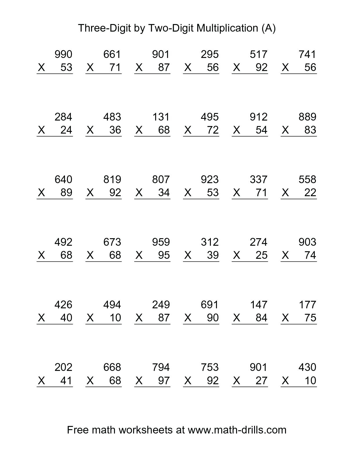 5Th Grade Multiplication Worksheets For Printable. 5Th Grade inside Printable Multiplication Rhymes