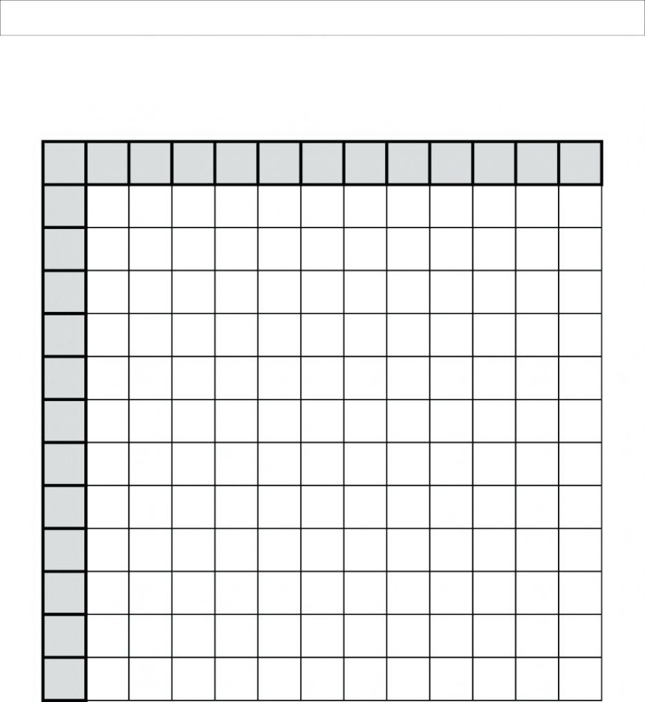 61 Multiplication Table 0-12 with Printable Multiplication Grid Blank