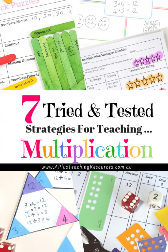 7 Easy & Stress Free Teaching Multiplication Strategies For Within Printable Multiplication Strategy Mat