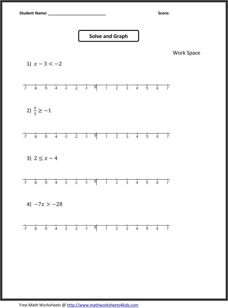 7Th Grade Algebra Worksheets | 7Th Grade Math Worksheets Inside Free Printable Multiplication Worksheets 7Th Grade