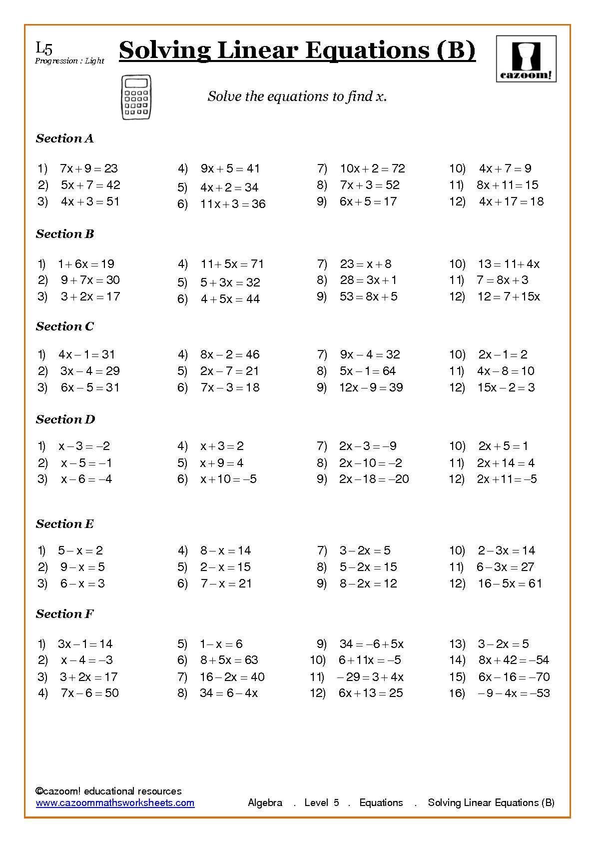 Algebra Solving Equations At Ks3 And Ks4 | Algebra inside Multiplication Worksheets Ks4