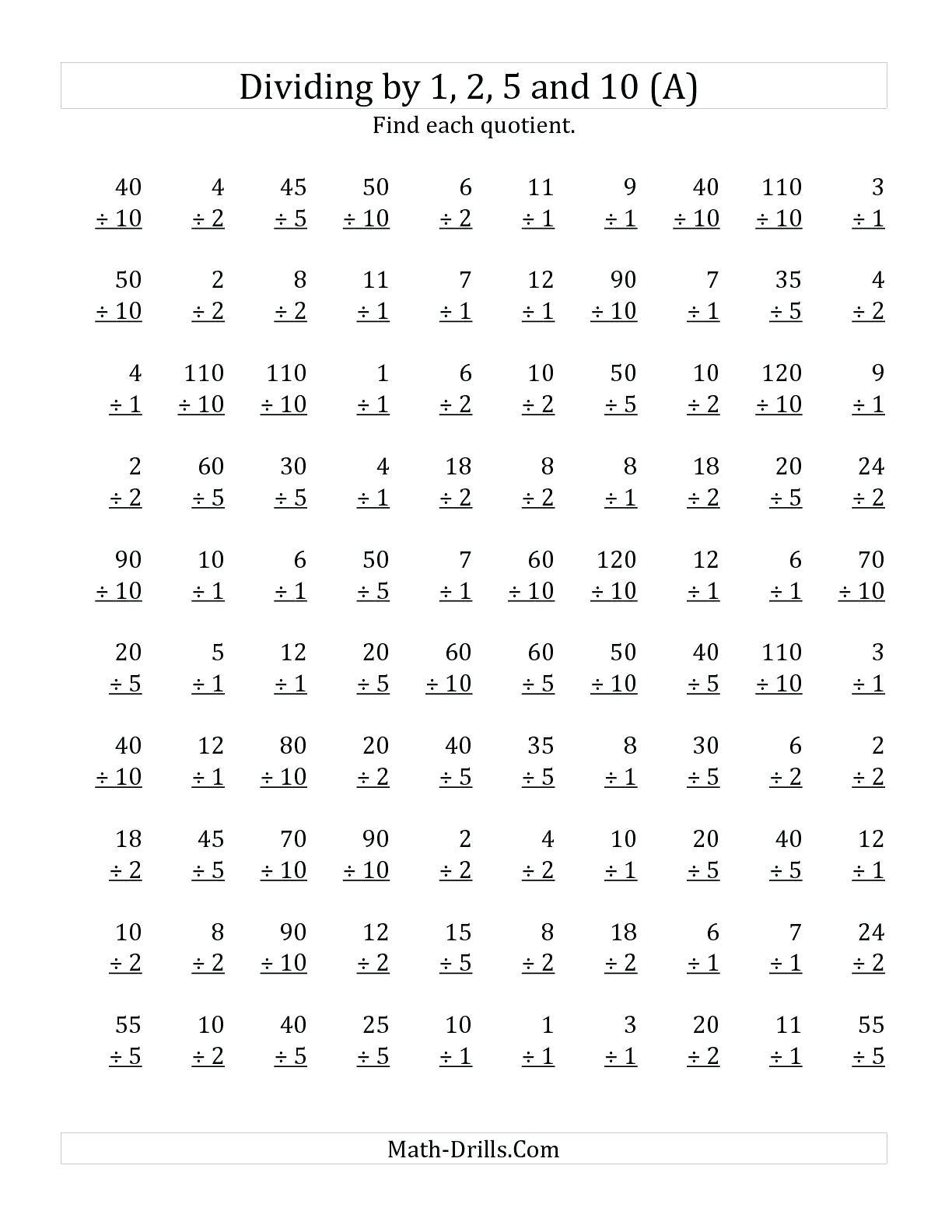 Basic Math Timed Test Worksheet | Printable Worksheets And within Printable Multiplication Quiz 0-12