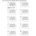 Blank Lattice Multiplication Worksheets & Lattice With Printable Lattice Multiplication Worksheets