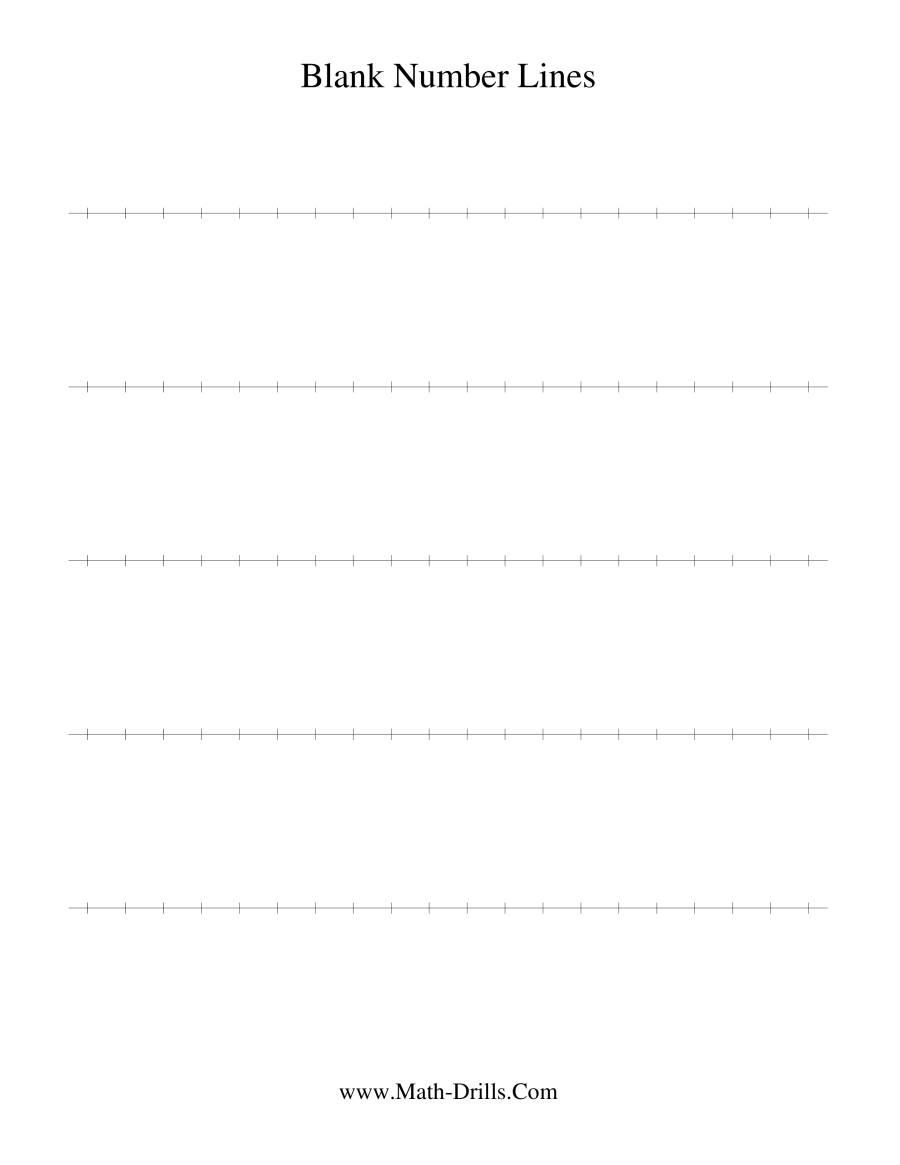 Blank Number Line regarding Multiplication Worksheets Number Line