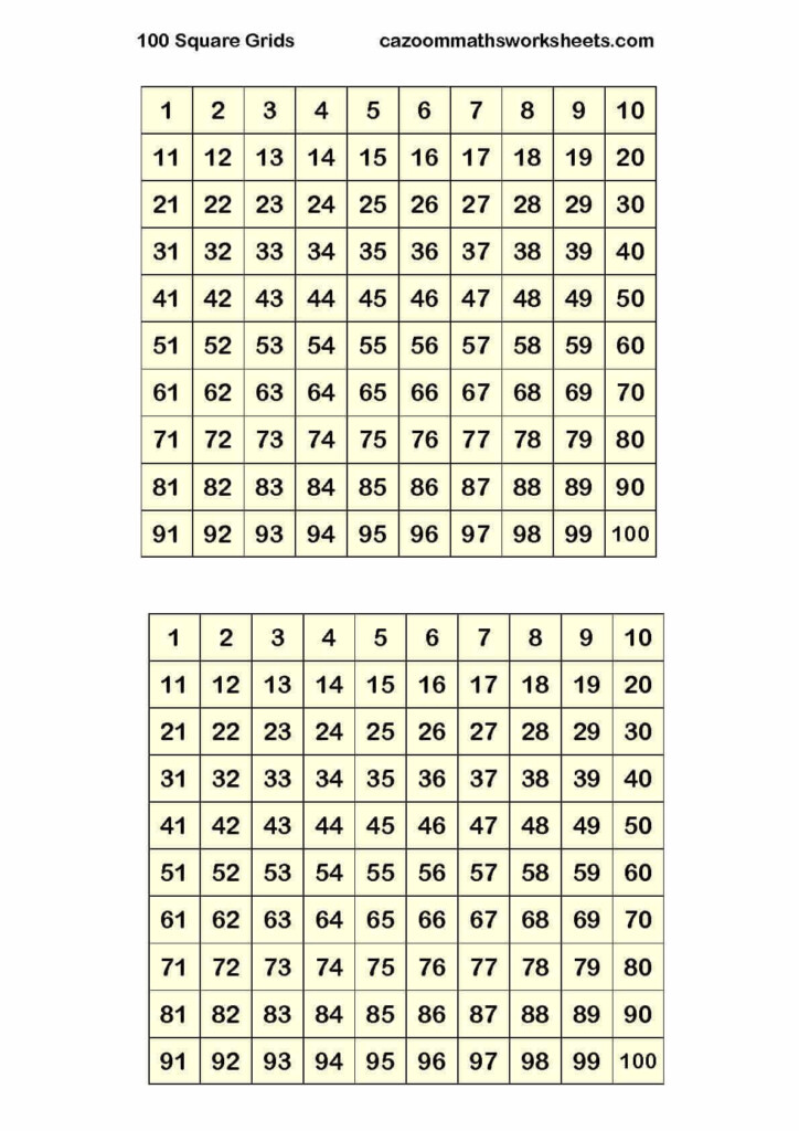 Cazoom Maths Worksheets   Number Resources, Math Worksheets Pertaining To Printable Multiplication Chart 4 Per Page