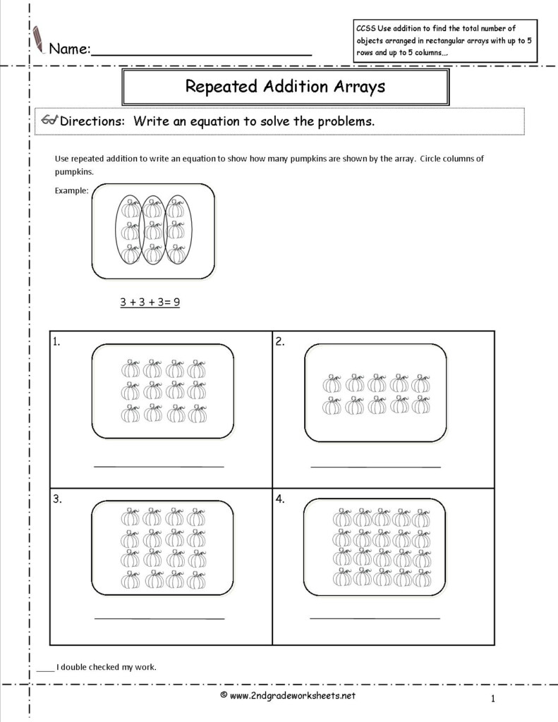Ccss 2.oa.4 Worksheets In Multiplication Worksheets As Repeated Addition