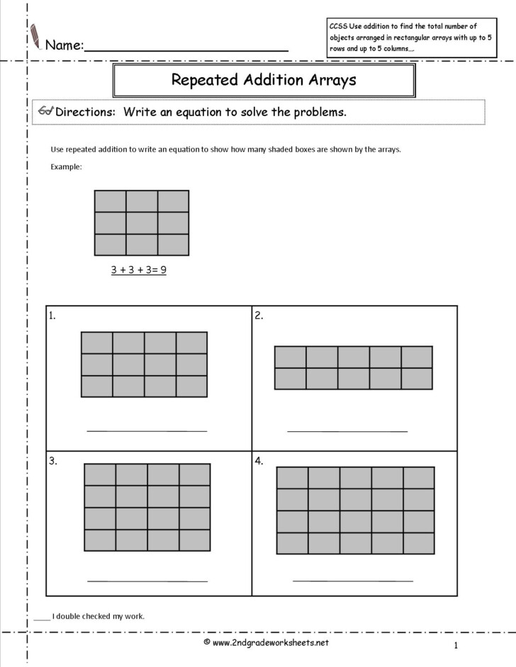 Multiplication Worksheets As Repeated Addition